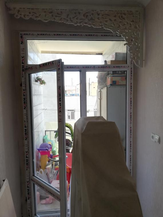 پنجره دوجداره upvc،توری پلیسه ای